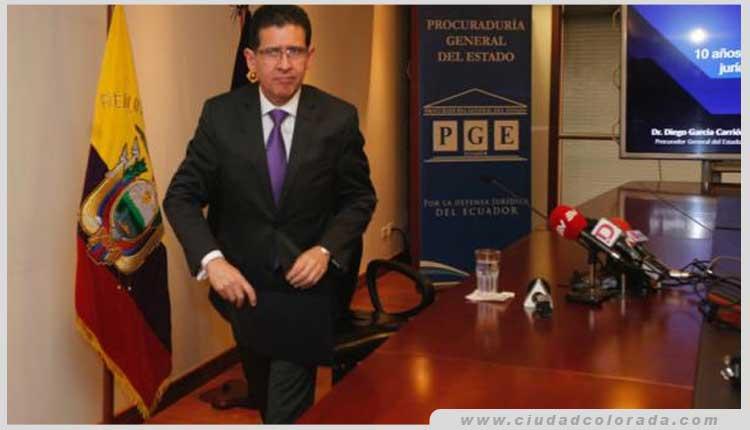 El procurador general Diego García dimitió del cargo