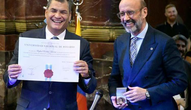Rafael Correa, Honoris Causa, Ecuador,