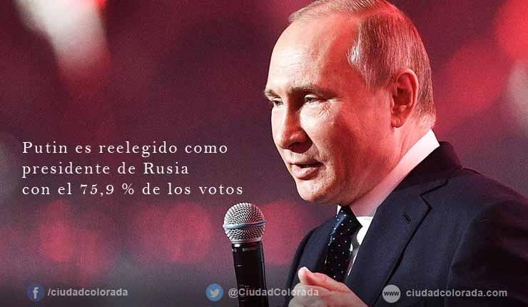 Vladimir Putin es reelegido como presidente de Rusia hasta 2024
