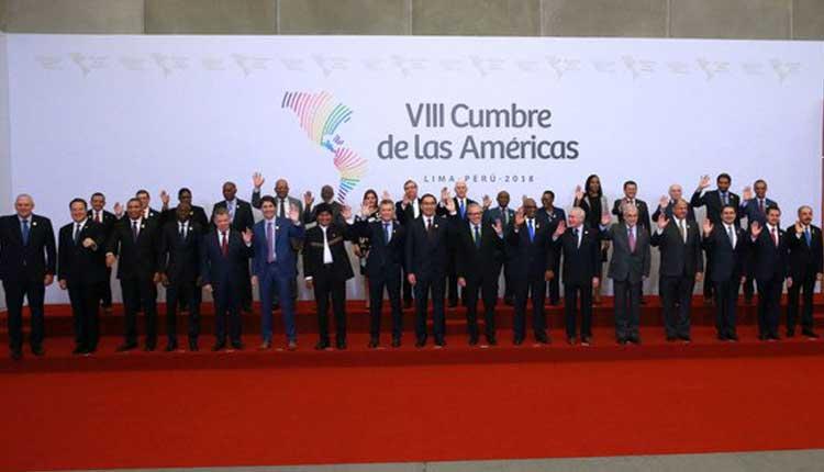 Nicolas Maduro, Cumbre de las Américas, Perú,