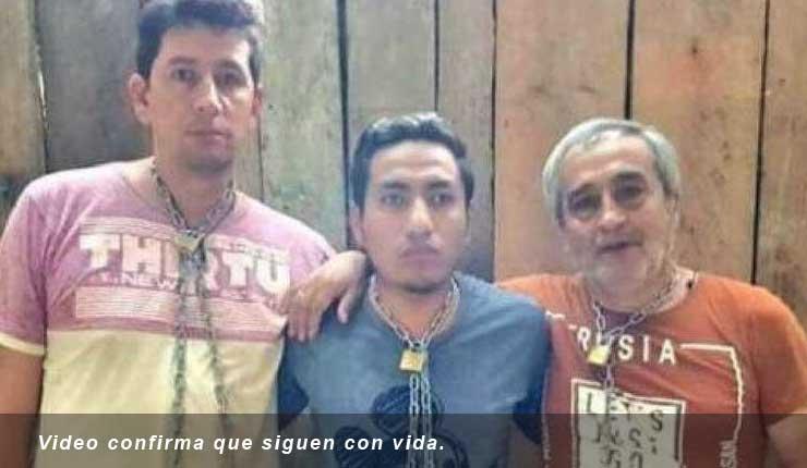 Revelan prueba de vida de periodistas ecuatorianos secuestrados