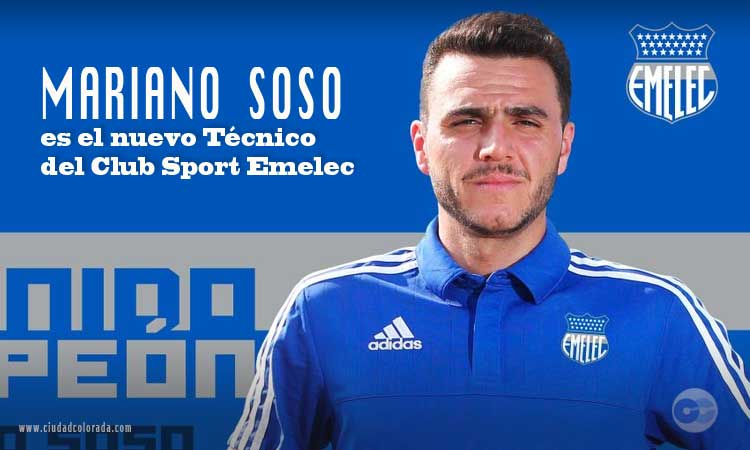 Mariano Soso es el nuevo Director Técnico de Emelec