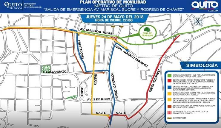 Cruce de la Rodrigo de Chávez y Mariscal Sucre se cierra hasta enero