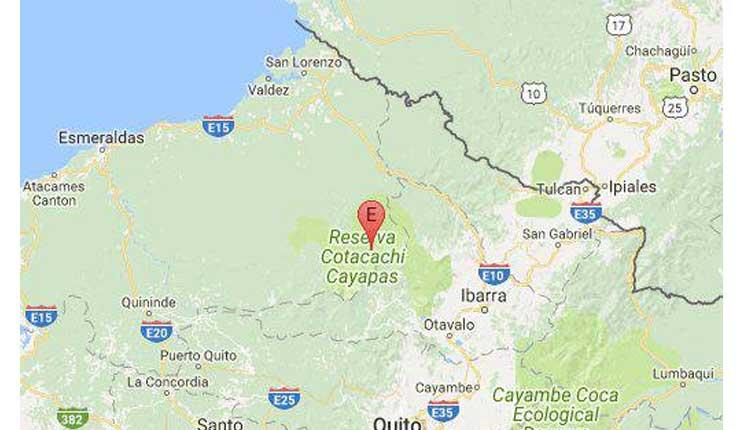 Temblor, Cotacachi, Ecuador,