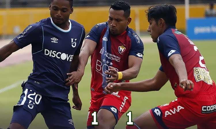El equipo militar alcanzó un empate agónico ante el trencito azul en los últimos minutos del partido