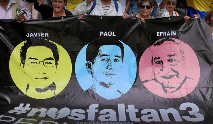 Confirmado, cuerpos hallados en Colombia pertenecen a los tres periodistas ecuatorianos