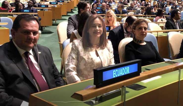 Canciller ecuatoriana María Fernanda Espinosa, resultó hoy electa presidenta de la Asamblea General de la #ONU #NacionesUnidas