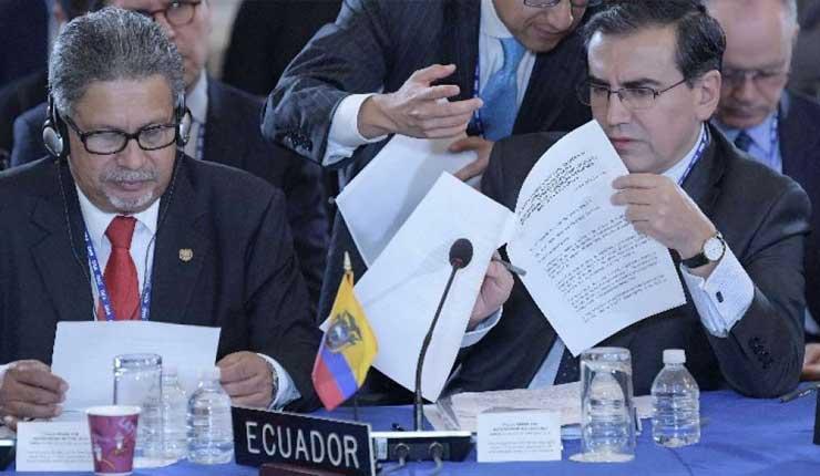 El Gobierno de Ecuador propone ante la OEA una consulta popular en Venezuela