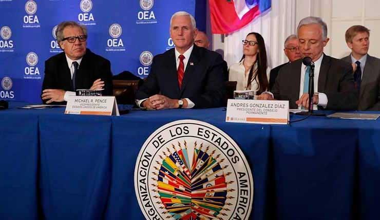 Vicepresidente de EE.UU. llama a suspender a Venezuela de la OEA