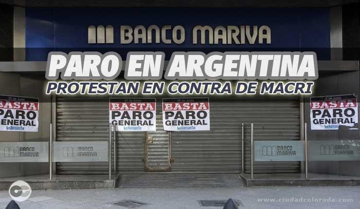 PARO EN ARGENTINA