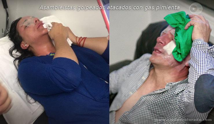 Hoy la diputada @GabrielaEsPais fue agredida por la policia