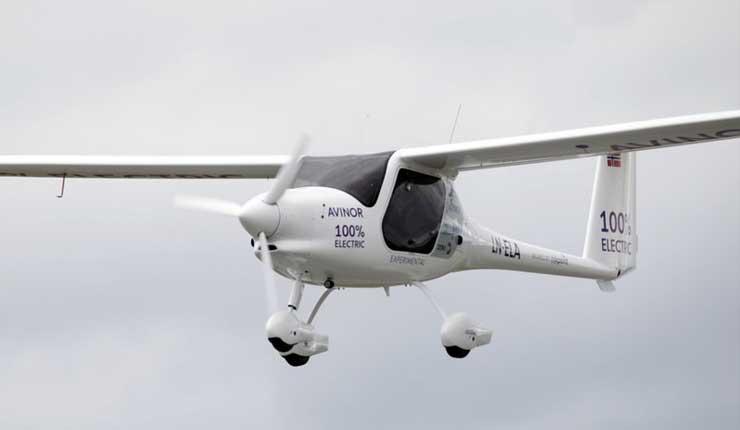 Avión eléctrico vuela en los cielos de Noruega