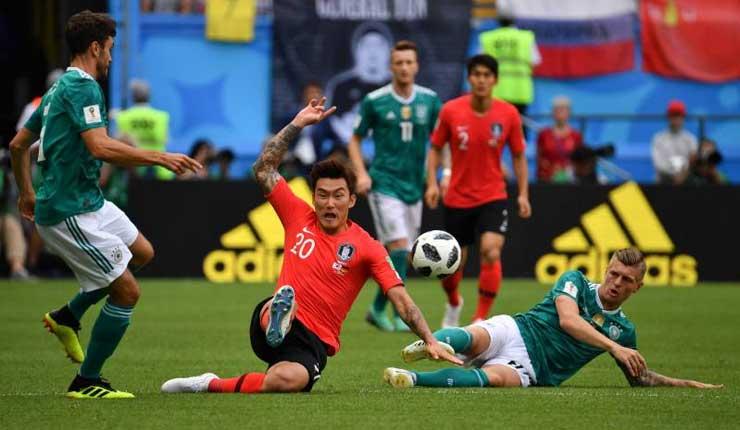Corea del Sur ganó 2-0 y eliminó a Alemania