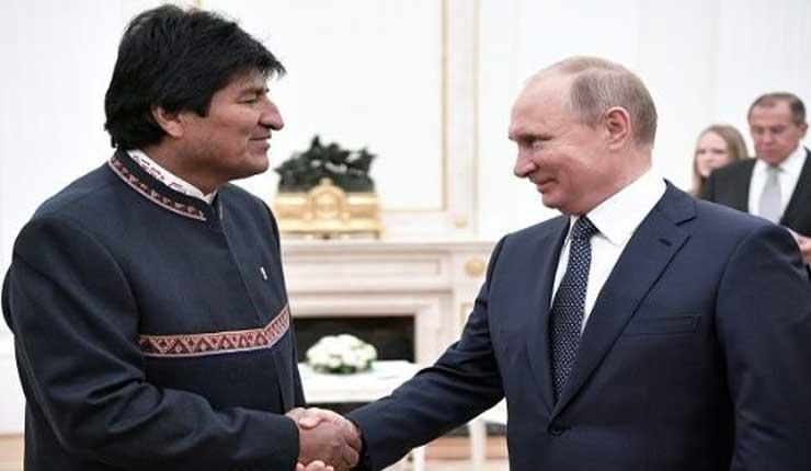 Evo llega a Rusia para concretar acuerdos de hidrocarburos