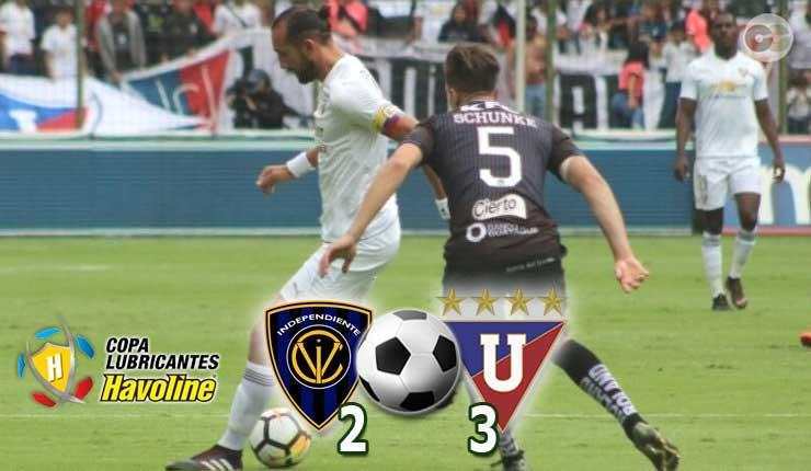 Liga de Quito se impuso 2-3 ante el equipo de Independiente del Valle en Quito