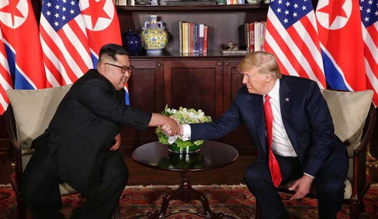 Histórica reunión entre los presidentes de Estados Unidos y Korea del Norte