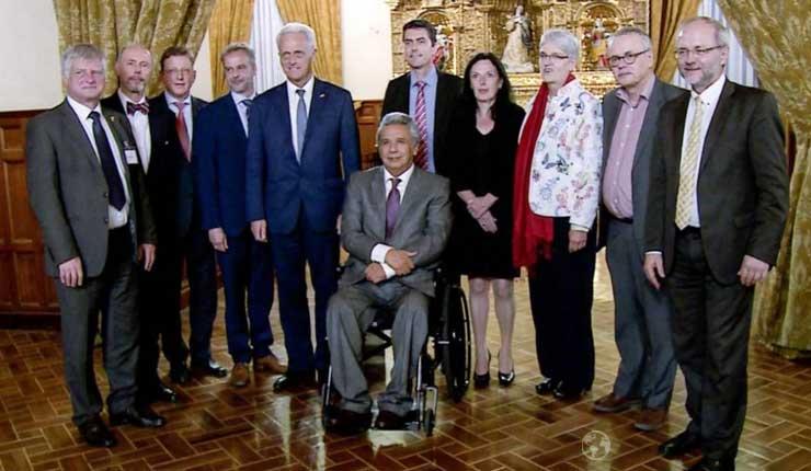 Presidente Moreno insistió en exoneración de visa Schengen a diputados alemanes