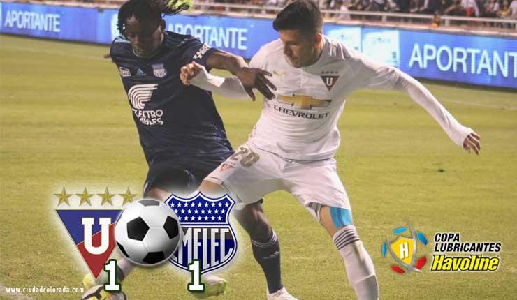 LDU de Quito igualó 1-1 ante Emelec por la Serie A Fútbol Ecuador