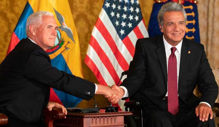 EE.UU. dona a Ecuador USD 1,5 millones para lucha contra corrupción y lo insta a dar pasos para aislar a Nicolás Maduro