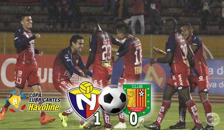 El Nacional le gano al Deportivo Cuenca 1-0 en Quito