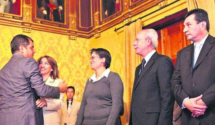 Pablo Romero, Senain, Rafael Correa,