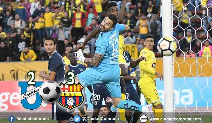 Barcelona cierra la primera etapa con una victoria 3 x 2 ante la U. Catolica