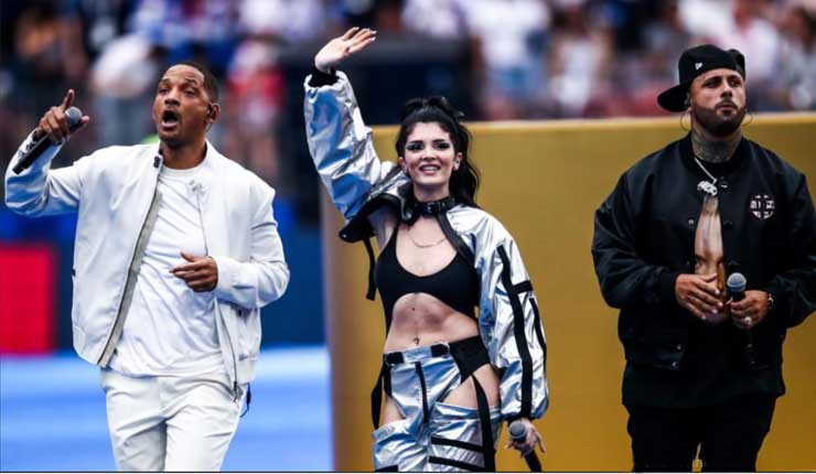 Nicky Jam, Will Smith y Era Istrefi cerraron el Mundial Rusia 2018 con broche de oro