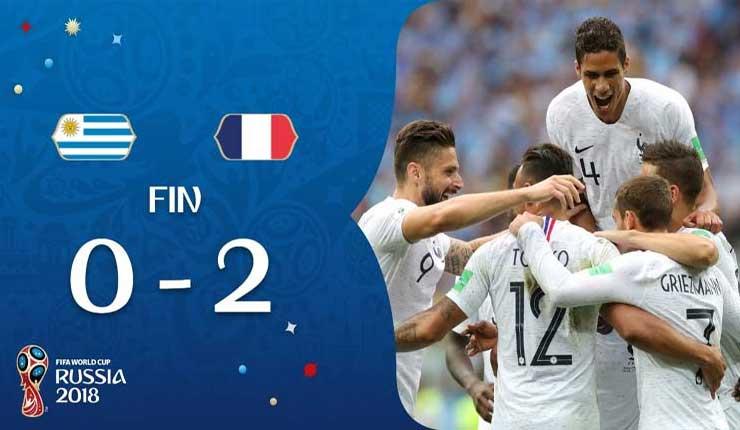 Uruguay cae ante Francia y dice adiós al Mundial de Rusia