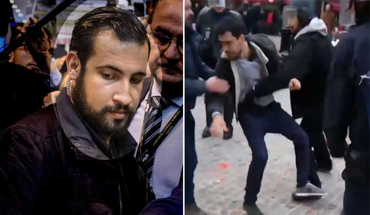 Detienen a guardaespaldas de Macron que golpeó a activista