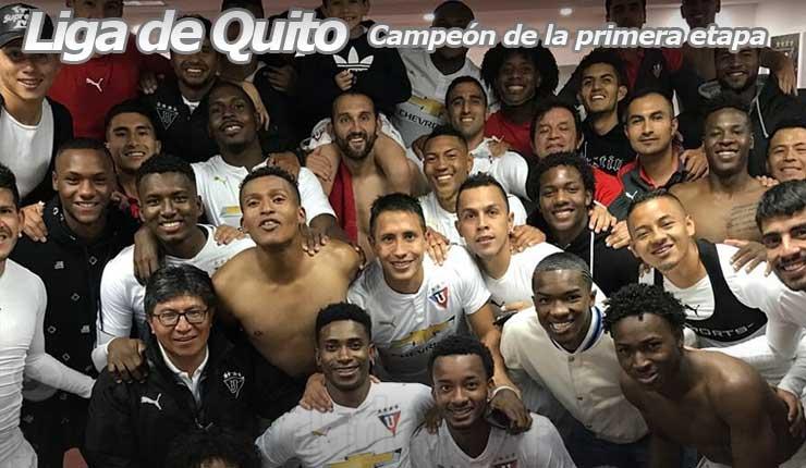 LDU Quito lider primera etapa Futbol Ecuador