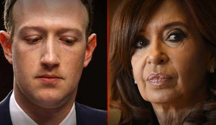 Facebook confirma que realizó campaña contra Cristina Fernández en 2015