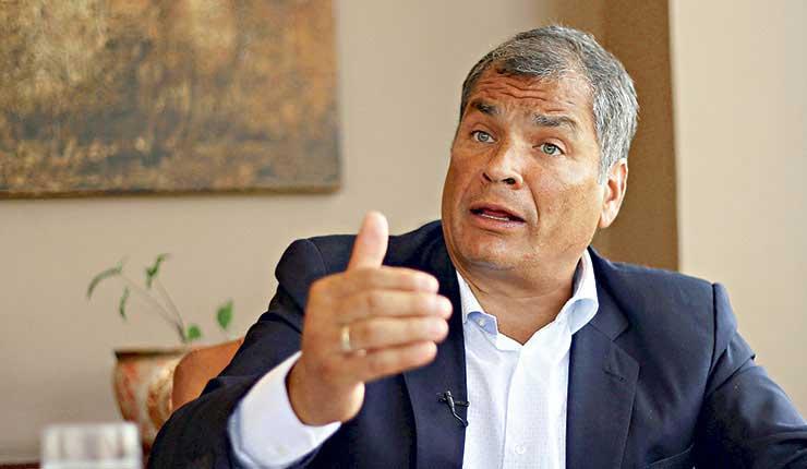 Policía Judicial envía orden de captura a expresidente Rafael Correa