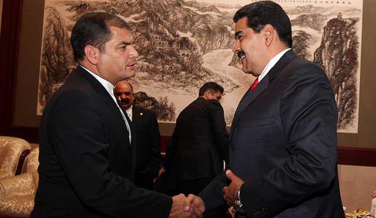 Presidente de Venezuela se solidariza con Rafael Correa y el pueblo de Ecuador
