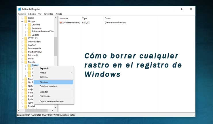 Sabes cómo borrar cualquier rastro en el registro de Windows de un programa desinstalado