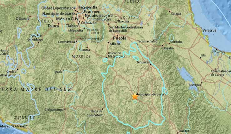 Un sismo de magnitud 5,7 sacude el sur y centro de México