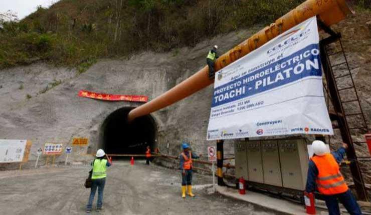 Al menos 2 años más demoraría la entrada en operación del proyecto Toachi Pilatón