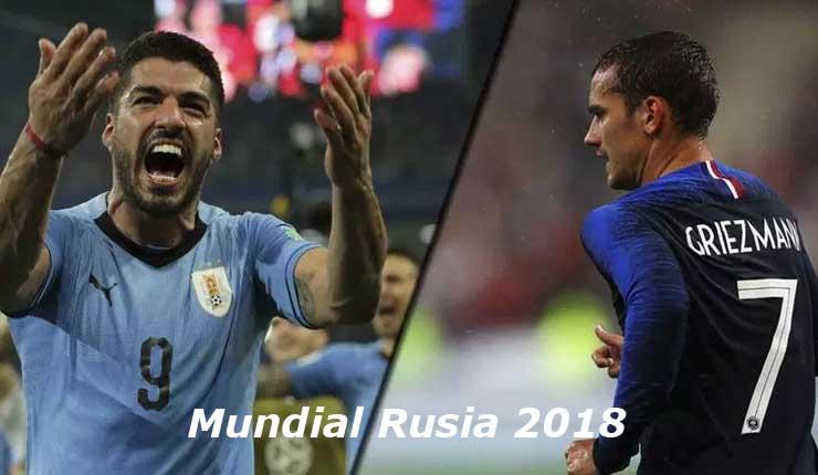 Uruguay vs Francia 6-7-2018