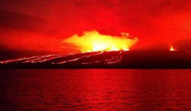 Acceso al sitio de visita del volcán Sierra Negra se encuentra abierto