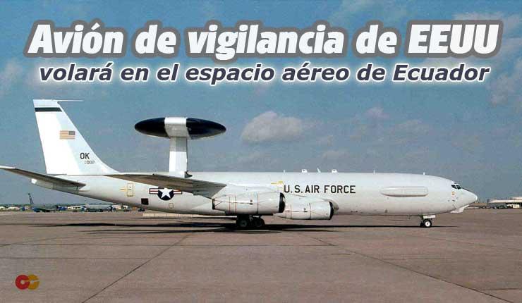 Avión Boing 707E3 Sentry de la Fuerza Aérea de los Estados Unidos.