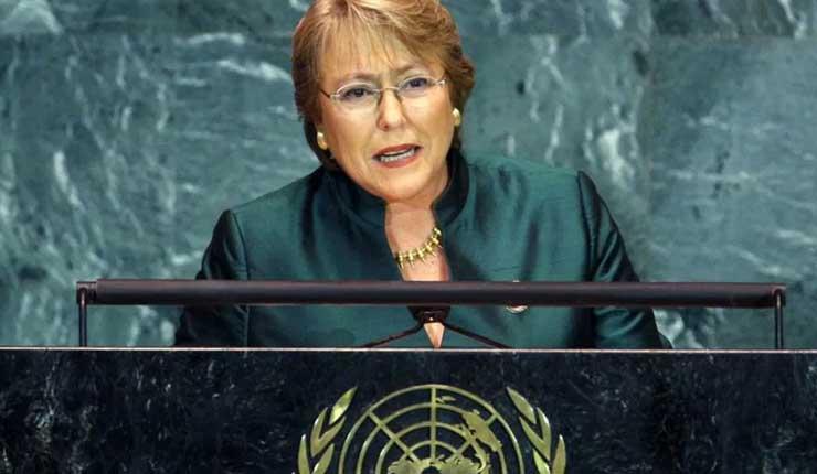 La ONU confirma a Michelle Bachelet como alta comisionada para los DDHH