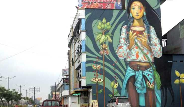Los Tsáchilas expresan su cultura a través de murales en Santo Domingo