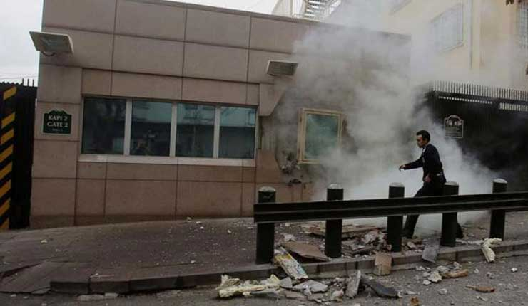 Disparan contra la embajada de Estados Unidos en Turquía