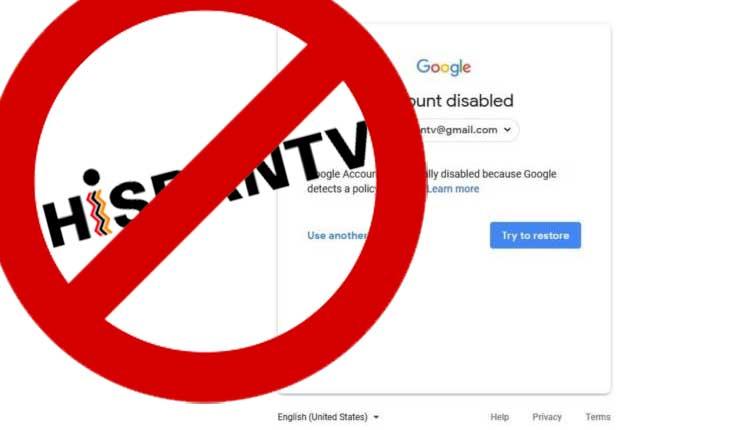 HispanTV no puede entrar a su cuenta de Youtube por bloqueo de Google