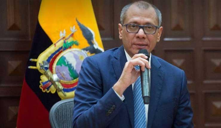 Jorge Glas se califica como preso político en una carta enviada al Foro por la libertad en Argentina