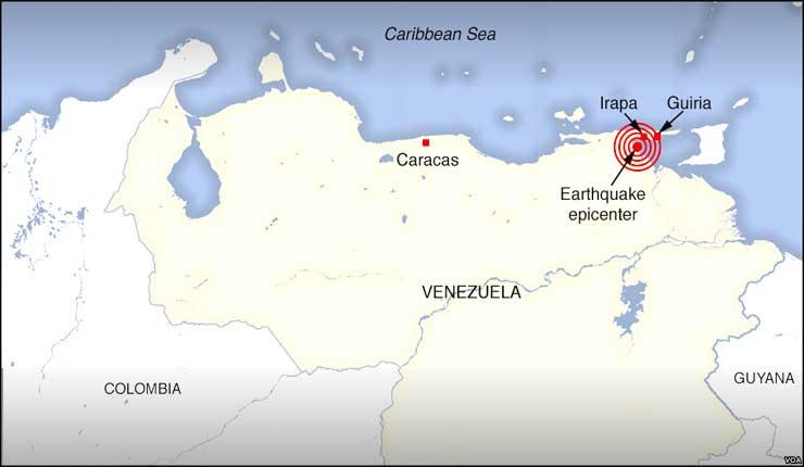 Fuerte réplica sacude Venezuela tras mayor sismo desde 1900