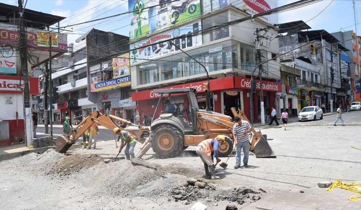 Comerciantes esperan se agiliten los trabajos en la calle 29 de Mayo