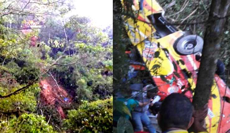 Bus de la cooperativa Nambija deja 9 personas fallecidas y 14 heridas, en accidente de transito