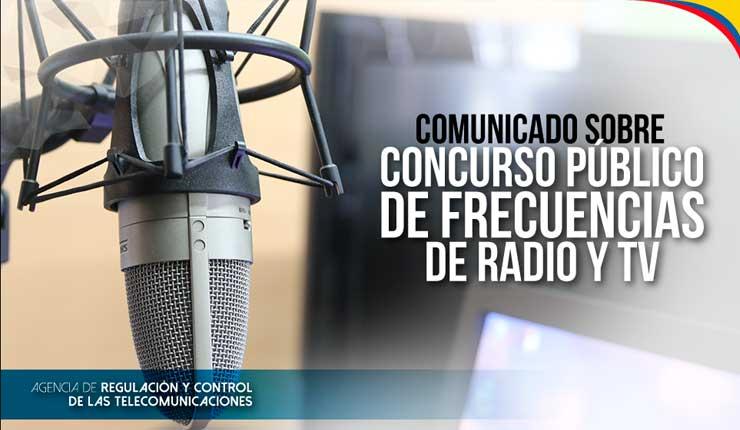 ARCOTEL da cumplimiento a las recomendaciones emitidas por la Contraloría sobre concurso de frecuencias