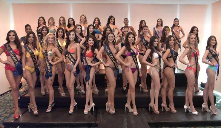 33 candidatas de diferentes países, listas para conseguir titulo de Miss Continentes Unidos