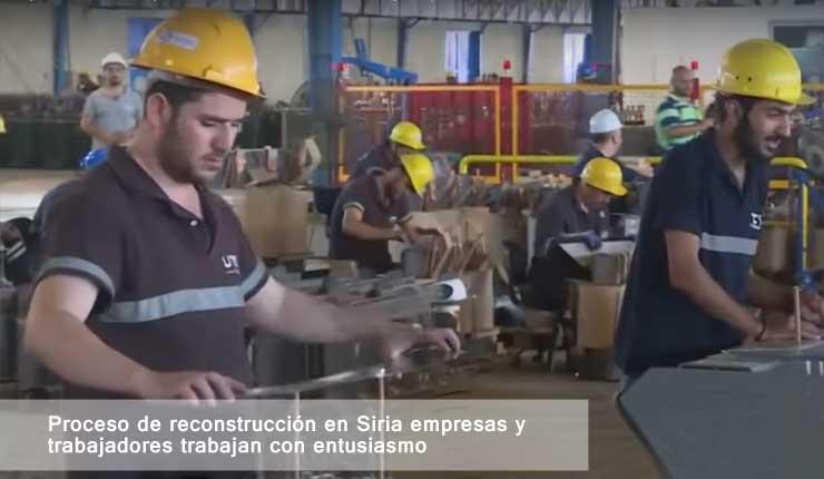 Proceso de reconstrucción en Siria, tras la destrucción dejada por los terroristas